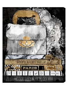 """$129  30"""" x 24""""   Paris Street Style (Canvas) by Oliver Gal at Gilt"""