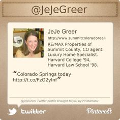 @JeJeGreer's Twitter profile courtesy of @Pinstamatic (http://pinstamatic.com)