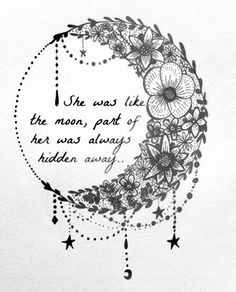 She was like the MOON , part of her was always hidden away ⭐ 🌙🌙🌙🌙🌙🌙🌙🌙🌙🌙🌙🌙 secret past mineonly thoughtsatnight sparkle shine moonshadow hidden nightime whispers angelkisses bright ⭐ 🌙 Tattoo Mond, I Tattoo, Tattoo Quotes, Small Tattoo, Body Art Tattoos, Tatoos, Girl Leg Tattoos, Sleeve Tattoos, Widder Tattoo