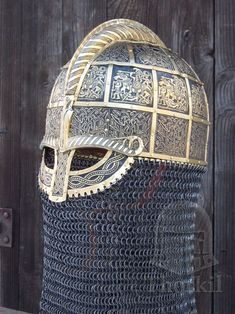 hedendom: A beautiful selection of hand forged Vendel and Viking helmets created for museums and private collectors by Thorkil Viking Armor, Viking Shield, Viking Helmet, Arm Armor, Medieval Armor, Medieval Fantasy, Viking Tent, Fantasy Armor, Vikings