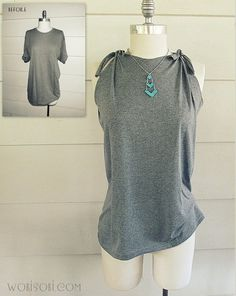 Side-Tie póló feljavítani | Community Post: 27 Awesomely Cheap Ways To Transform A T-Shirt