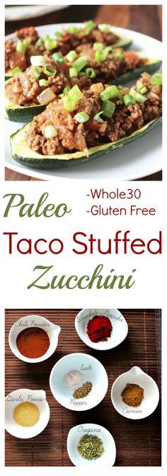 Taco Stuffed Zucchini (Paleo/Whole30)