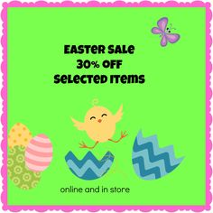 Easter Decor Sale- Decorate your home for Easter with Show Me Decorating and SAVE 30% for a limited time.