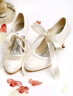Tacco a spillo scarpe da sposa con punta a punta