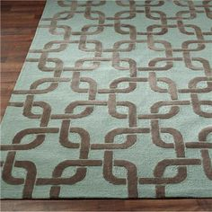 Outdoor or Indoor Modern Linked Squares Rug : 4 Colors