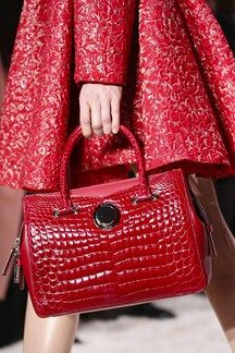 Red is everywhere- love it for handbags. #everivyclothing