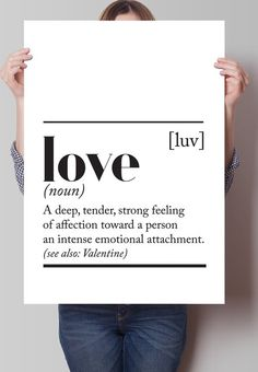 Fancy - Love Dictionary Definition Print