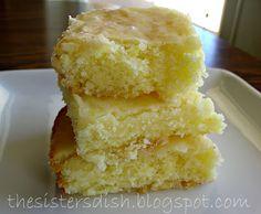 The Sisters Dish: Lemon Brownies