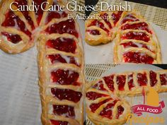 Candy Cane Cheese Danish
