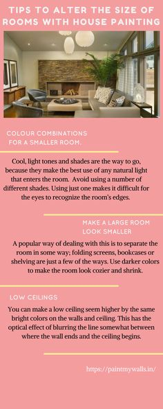 Simple Tips To Alter The Size Of Rooms With House Painting..