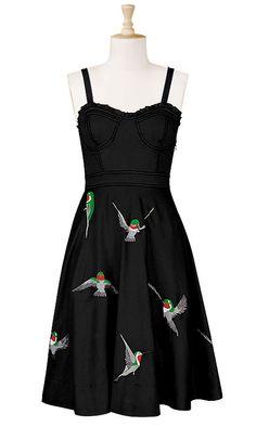 Corset Hummingbird Dress by eShakti.com (sizes 0-26 - customizable neckline & length)