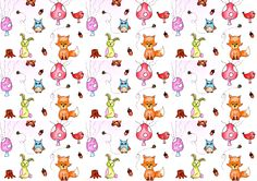 Woodland pattern illustration