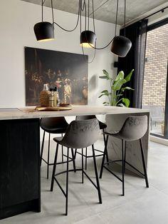 www.lifs.nl #lifs #interior #interiordesign #interieuradvies #ontwerp #kookeiland #lichtplan #loft Decor, Table, Light, Loft, Furniture, Interior Design, Home Decor