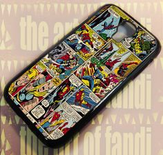 Marvel Comics For Samsung Galaxy S4 Black Rubber Case | TheArtOffandi - Accessories on ArtFire