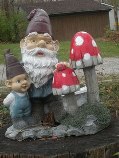garden gnomes - I got ones of these, exactly, for Christmas.