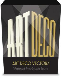The Ultimate Art Deco vector Pack: 275 Decorative Frames, 70 Illustrations & Ornaments, 110 Seamless Patterns.