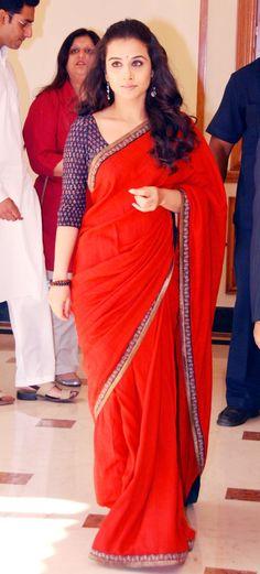 Vidya Balan in Ritu kumar: Day after the wedding