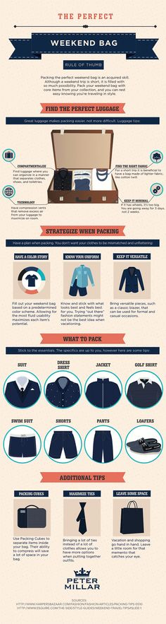 How to Pack the Perfect Weekend Bag #infographic