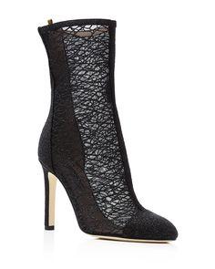SJP by Sarah Jessica Parker Metropolitan Mesh High Heel Booties - Bloomingdale's Exclusive