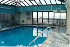 Indoor and Outdoor Swimming Pool and Childrens Wading Pool, Golden Sands Condos, Ocean City, MD