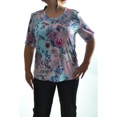 Dámske elastické tričko viacfarebné Floral Tops, Tunic Tops, Women, Fashion, Moda, Top Flowers, Fashion Styles, Fashion Illustrations, Woman