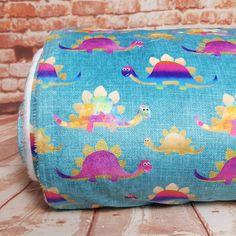 Colourful Dino Minky Fleece, sold by half metre Flamingo Fabric, Dinosaur Fabric, Dinosaur Design, Fabulous Fabrics, Kids Outfits, Craft Projects, Rainbow, Colours, Blanket