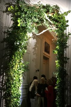 A detail of the set at Valentino couture. [Photo by WWD Staff]