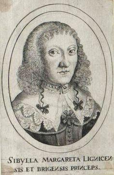 Sibylle Margarethe of Liegnitz-Brieg (Legnica-Brzeg) (Sybilla Małgorzata Piastówna) by Anonymous, ca. 1637 (PD-art/old), Österreichische Nationalbibliothek, second wife of Gerard Denhoff (Gerhard von Dönhoff), Voivode of the Pomeranian Voivodeship