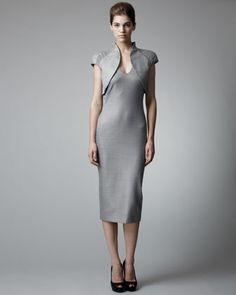 Trompe L\'Oeil Bolero Dress by Alexander McQueen at Neiman Marcus.