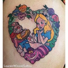 Alice in wonderland tattoo by Lauren Winzer