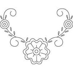 Pattern Detail | Floral Corner Motif | Needlecrafter