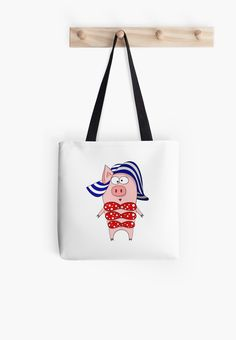 Pig in swimsuit and hat • Also buy this artwork on bags, apparel, stickers, and more.