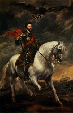 Portrait of Charles V on Horseback. c. 1620. Oil on canvas, 191 x 123 cm. Galleria degli Uffizi, Florence.