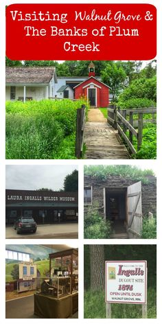 Little House on The Prairie, Walnut Grove & Playing on the Banks of Plum Creek