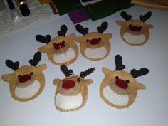 Reindeer christmas felt decoration