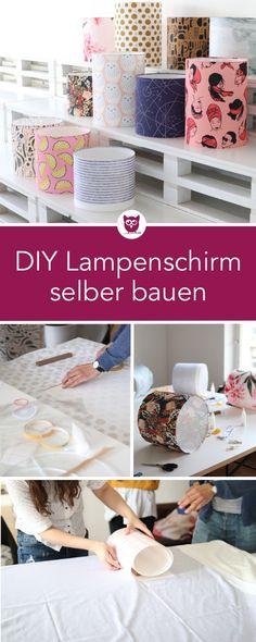 [Werbung] DIY Lampenschirm selber bauen mit Stoff Workshop von Etsy und Spoonflower. Wir haben einen Lampenschirm mit Baumwollstoffen selbst bezogen und ich fasse euch inkl. DIY Anleitung zusammen, wie es geht. DIY Eule