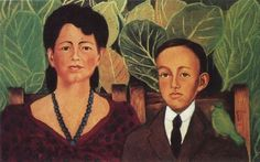 Portrait of Alicia and Eduardo Safa, Retrato de Alicia y Eduardo Safa, Frida Kahlo, C0476