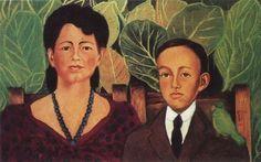 Portrait of Alicia and Eduardo Safa, Retrato de Alicia y Eduardo Safa, Frida Kahlo, C0476