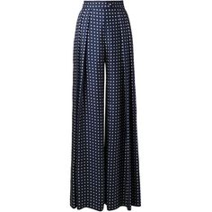 Martin Grant wide leg polka dot trousers ($1,435) ❤ liked on Polyvore
