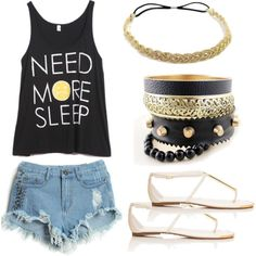 """""""Lazy """"First Day of School"""" Outfit"""" by khayol on Polyvore"""