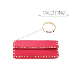 50 Showstopping Fall 2013 Bags: Valentino Rockstud clutch, $1,595, shopBAZAAR.com.