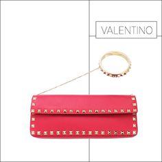 50 Showstopping Fall 2013 Bags: Valentino Rockstud clutch, $1,595, shopBAZAAR.com.