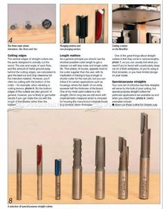 #1319 Straight Router Cutters - Router Tips, Jigs and Fixtures
