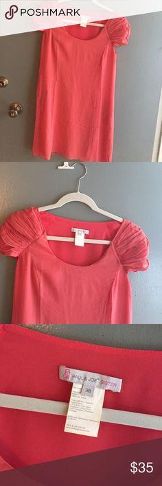 Very cute coral/pink Paul & Joe dress Slight pull in fabric - shown in pic 4 - not noticeable on Paul & Joe Dresses