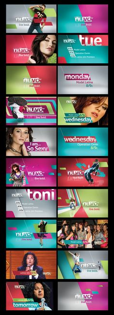 pitch boards for nuvo channel done trough bigmachine Web Design, Layout Design, Thumbnail Youtube, Thumbnail Design, Channel Branding, Social Media Design, Grafik Design, Motion Design, Design Reference