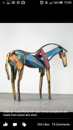Upcycled sculpture art