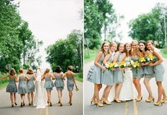:: love the grey and yellow :: the beautiful new Mrs. @Katie Ringenberg's inspiration for her own wedding.