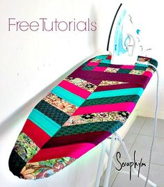 Quilted Herringbone Ironing Board Cover - Free Pattern by Seraphym HM | PatternPile.com