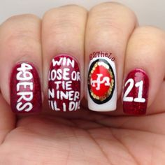 225 Best 49ers Nail Art Images On Pinterest 49ers Nails Finger