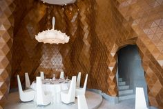 Reign Restaurant #materials #freeform #organic #parametric #wood #flexible #design #innovation #digital #architecture #cladding #startup #dubai